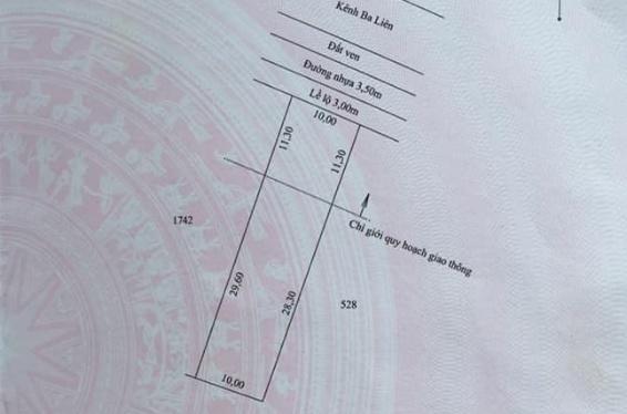 Cần bán nền đường kênh Ba Liên gần đài truyền hình Hậu Giang chỉ 380tr